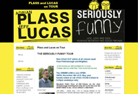 Web Design New Forest Plass and Lucas comedy Tour joomla dtregister event registration web site
